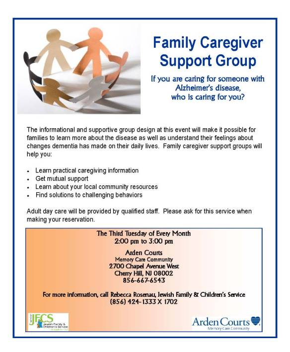 2014 JFCS Alzheimer's Caregivers Monthly Support Group at Arden Court