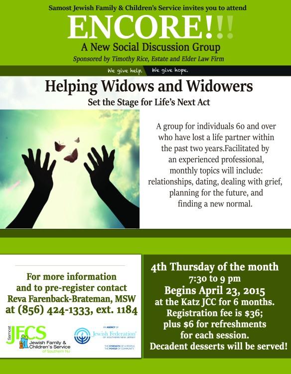 ENCORE widow and widowers