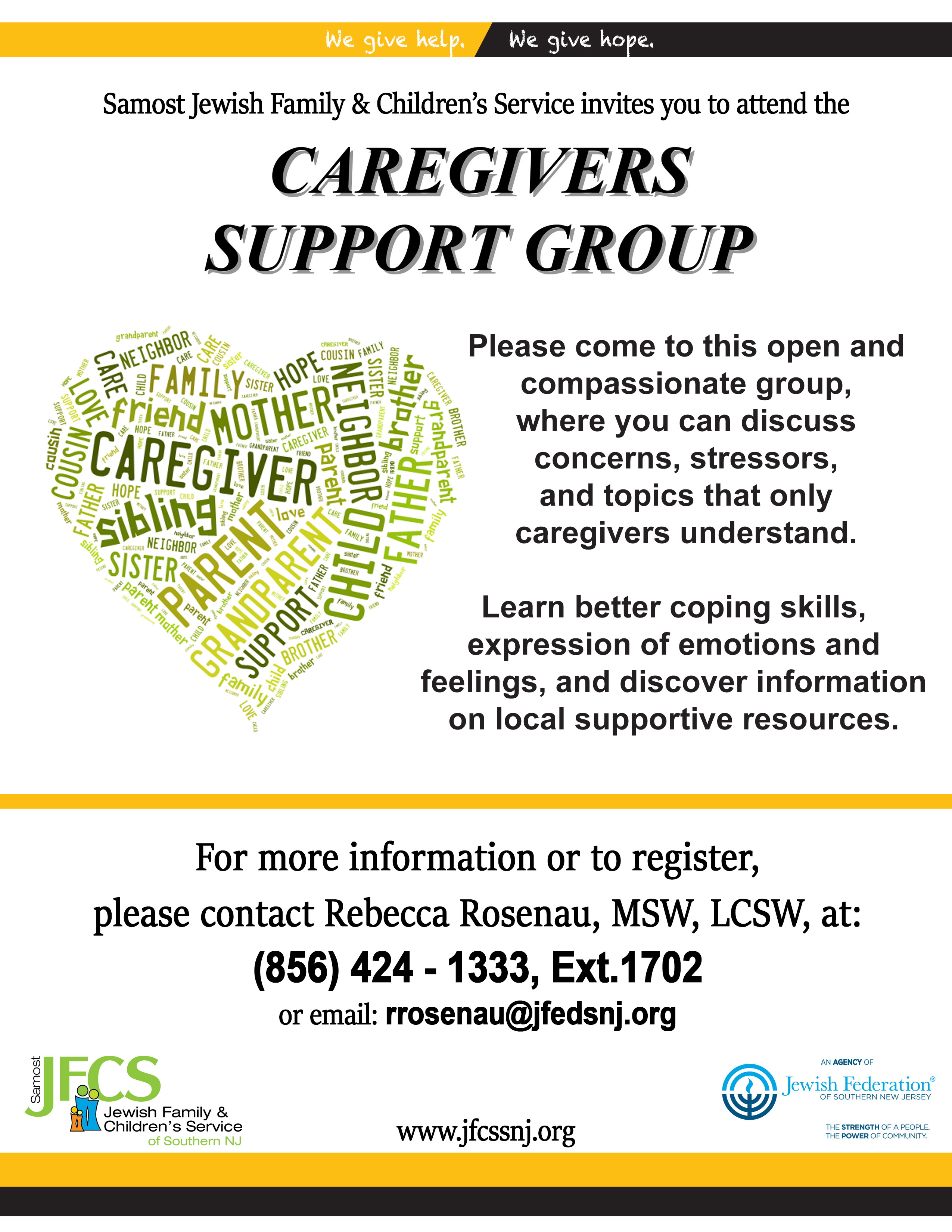 Support group for caregivers