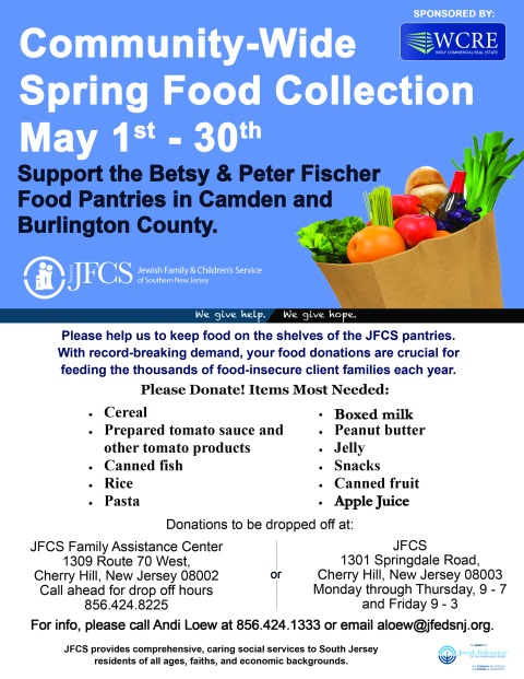 Sping Food Collection Purim flyer_2  4.18.16