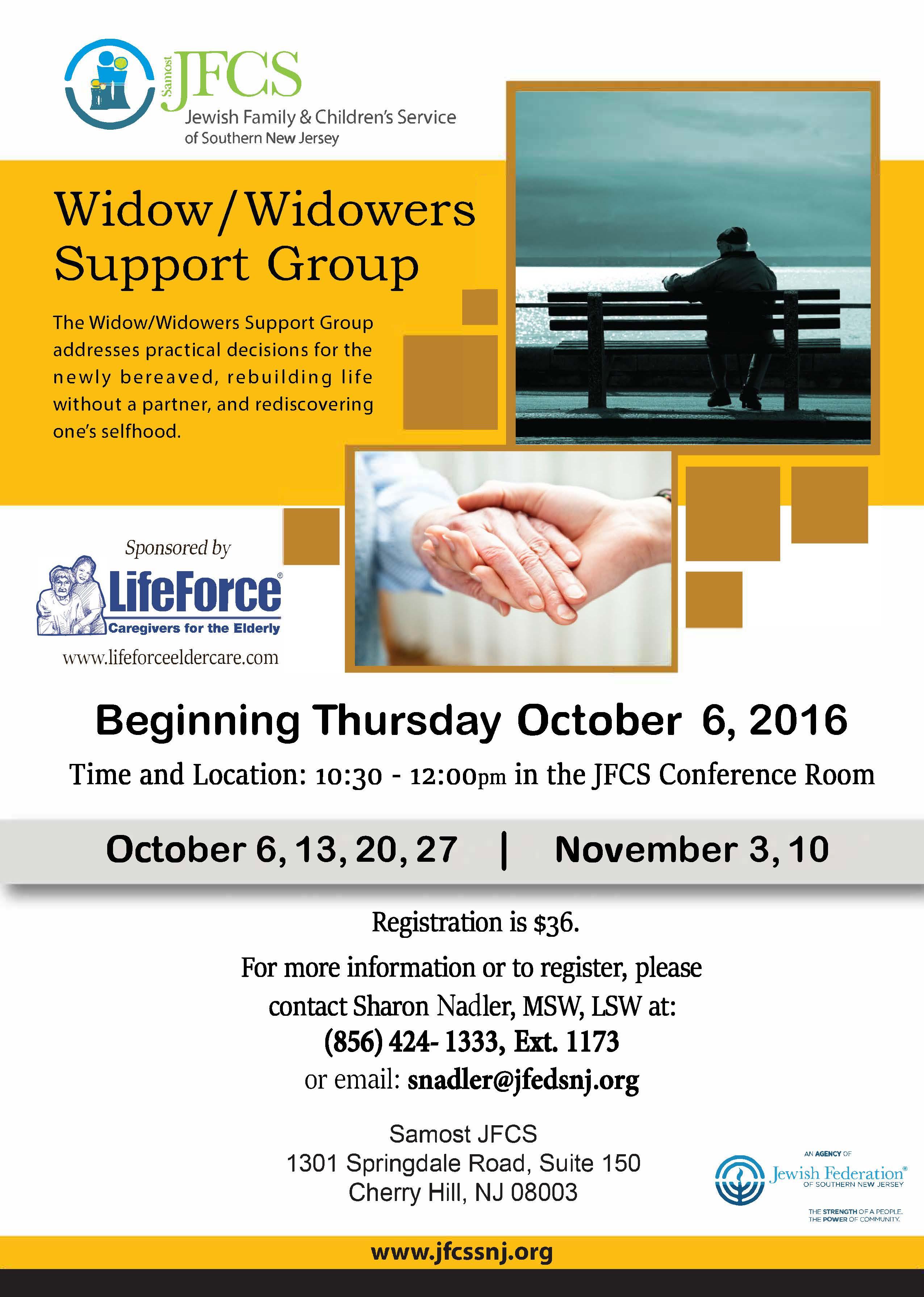 widow and widowers group