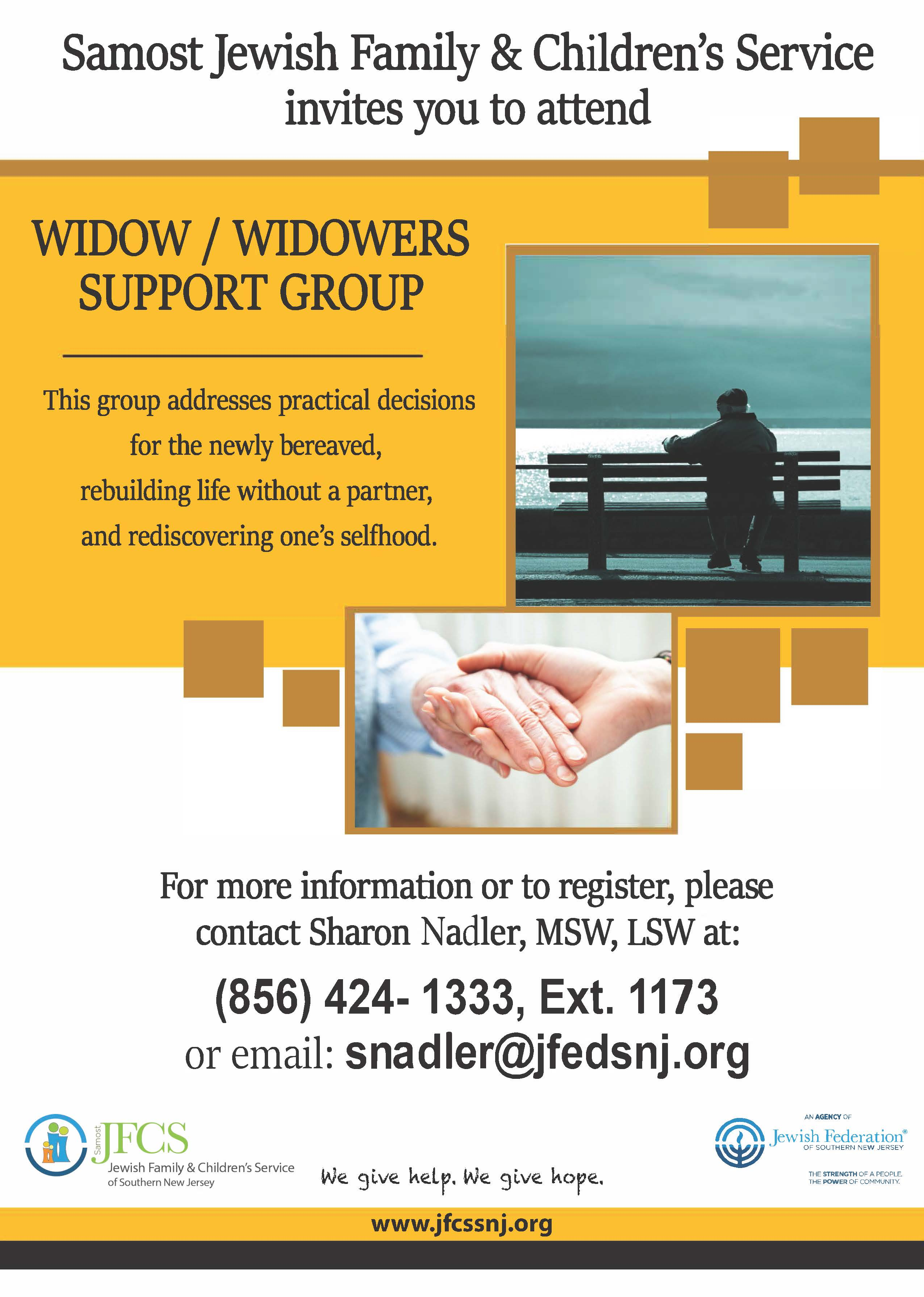 Widows and widowers dating service